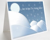 Christmas Card, Best Wishes, Snowflake