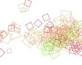 """Repeat 17, small, abstract, original, 10"""" x 8""""  drawing"""