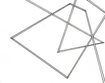 "Line 1, small, original, 8"" x 6"" drawing"