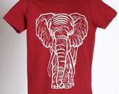 Elephant on American Apparel T Shirt 2t, 4t, 6t, 8y, 10y, 12y