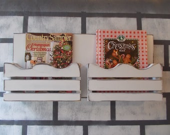 Mail Organizer--Letter Holder--Office decor--Wall Decor--Kitchen decor--Magazine organizer
