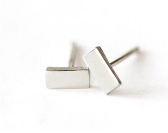 Back to Basics-Rectangle Earrings in Silver