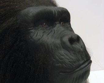 Handmade Prop Ape Display Head Sculpture Planet of the Apes Gorilla SciFi Art