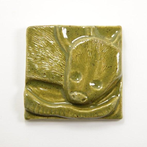 ¡ Possum azulejos 4 x 4 - amante del animal doméstico del colgante de pared regalo zarigüeya ratón cerámica azulejos