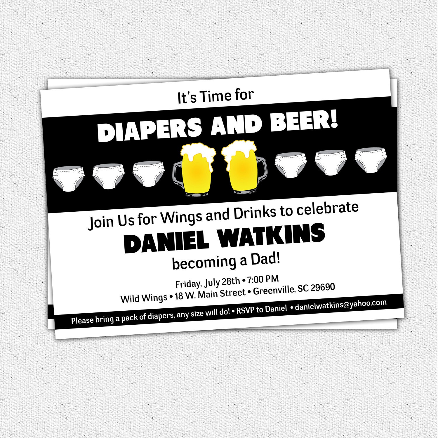 chuggies beer and diaper party invitation babies for men  etsy, Party invitations