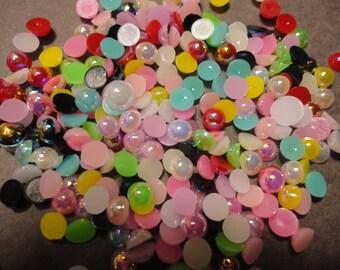 kawaii AB flatback pearl mix colors  decoden deco diy  4 mm    more than 100 pcs--USA seller