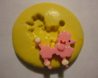 Sale-kawaii flexible silicone mold for poodle cabochons  ---USA seller