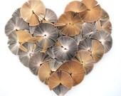 Heart Artwork made from books