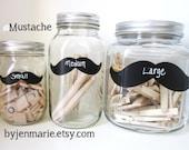 Mustache  Chalkboard Labels