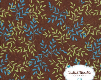 Tend the Earth by Deb Strain - Delicate Leaves Earth Brown (19544-17) - 1 Yard
