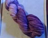 Purple Variegated -- Arainn base 100% BFL 180 yards/100g Aran weight Kettle dyed yarn