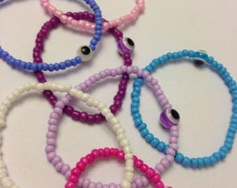 Colorful Beaded Stretch Evil Eye Bracelet Nazar