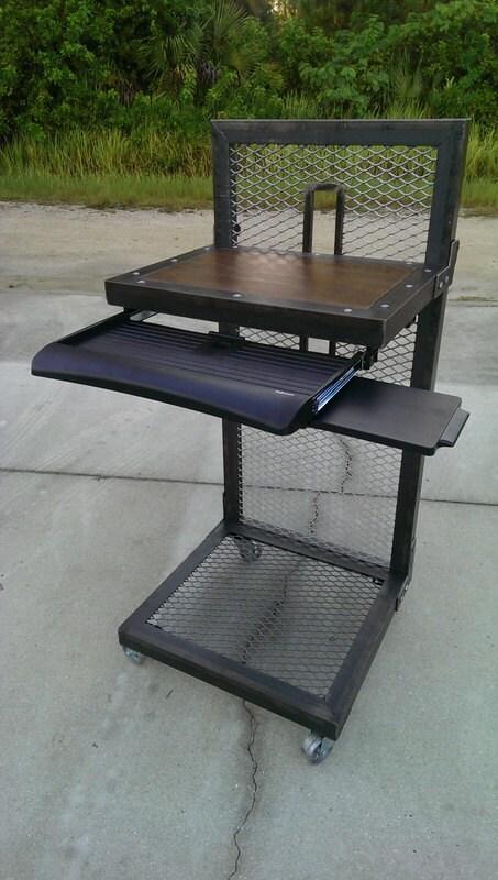 Modern Industrial Standing Desk 026 Industrial Style