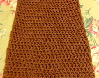 Brown copper infinity cowl scarf tall super soft