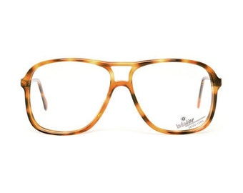vintage aviator eyeglasses - brown tortoise shell glasses - small to oversized aviators (3 sizes) - originally 80s aviators