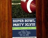 Super bowl invitations - digital file