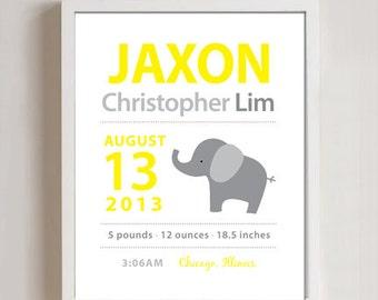 8 x 10 - Elephant Birth Print