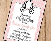 Princess Carriage Custom Printable Invitation