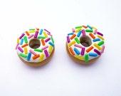 Kawaii Multicolour Doughnut Stud Earrings