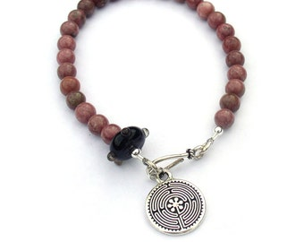 Mala Bracelet Prayer Beads Labyrinth