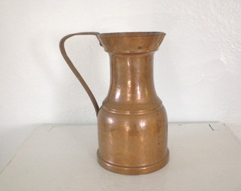 Vintage Copper Pitcher Hand Hammered Mid Century Home Decor GallivantsVintage
