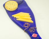 Royal Blue Wine Bottle Cheese Platter G51