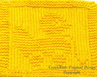Knitting Cloth Pattern - DUCKY PULL TOY - Pdf