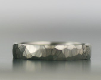 men's wedding band - gold or palladium faceted band - his and hers - his and his - hers and hers - eco friendly recycled metals