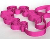 Ribbon Jewellery: peony pink grosgrain ribbon necklace