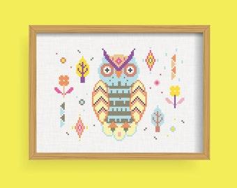 DIY The Owl / Cross Stitch Pattern .pdf  / Instant Download