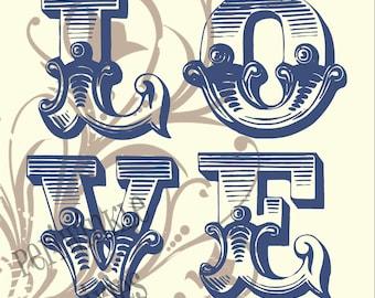 LOVE Typography PRINTABLE