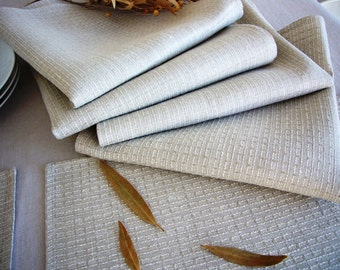 Linen napkin set -Simple living- natural pure linen napkins, linen tableware, Eco-friendly, table linens,