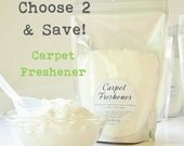 CHOOSE 2 - Scented Natural Carpet Freshener & Deodorizer with scoop (12 oz value size bags)