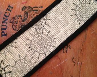 Black Spider Web Sisal Rug - Dollhouse Size - 2 x 7 inch