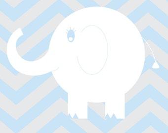 Nursery Art Baby Elephant 8x10 Print