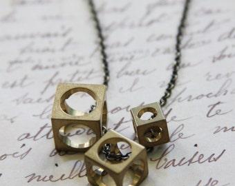 Asymmetrical Cube Necklace