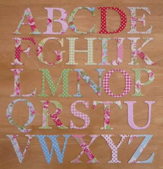 ... Iron on Fabric Uppercase Letters Appliques - Choose any letter and