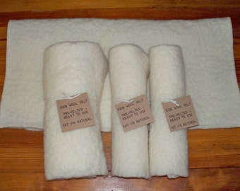 Fat 1/8 100% Natural Wool Felt