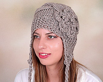 Hand Knit Hat Women's Hat, Women's Knit Hats, Knit Winter Hat Woman, Women's Knit Winter Hats, Warm Hat