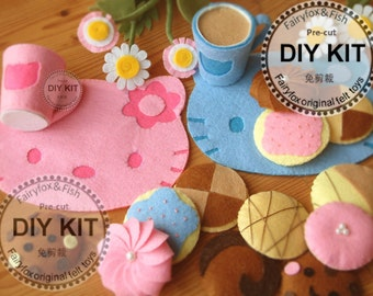 DIY felt cookies and place mats Kit package--K-F20
