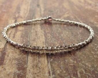 Smoky Quartz Bracelet Smoky Quartz Bracelets Womens Gift Beaded Bracelet Bead Bracelet Smokey Quartz Bracelet Smoky Quartz Gemstone Jewelry