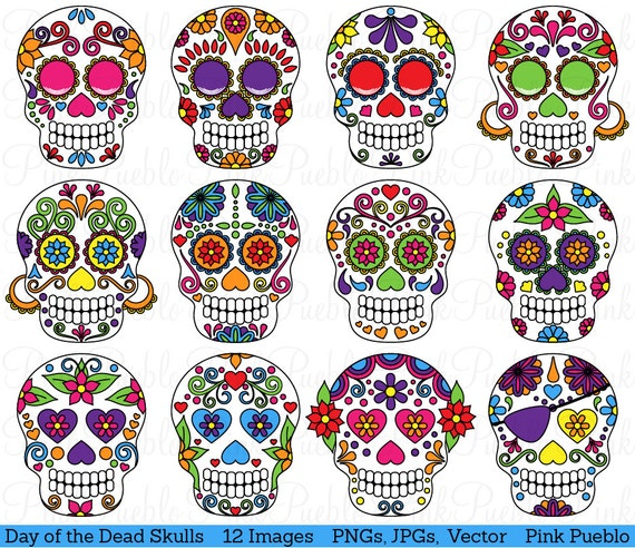 Pics Day of The Dead Day of The Dead Skull Clipart