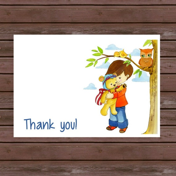 Thank You Note/ Baby Shower Thank You/ Birthday Thank you/ Set of 8