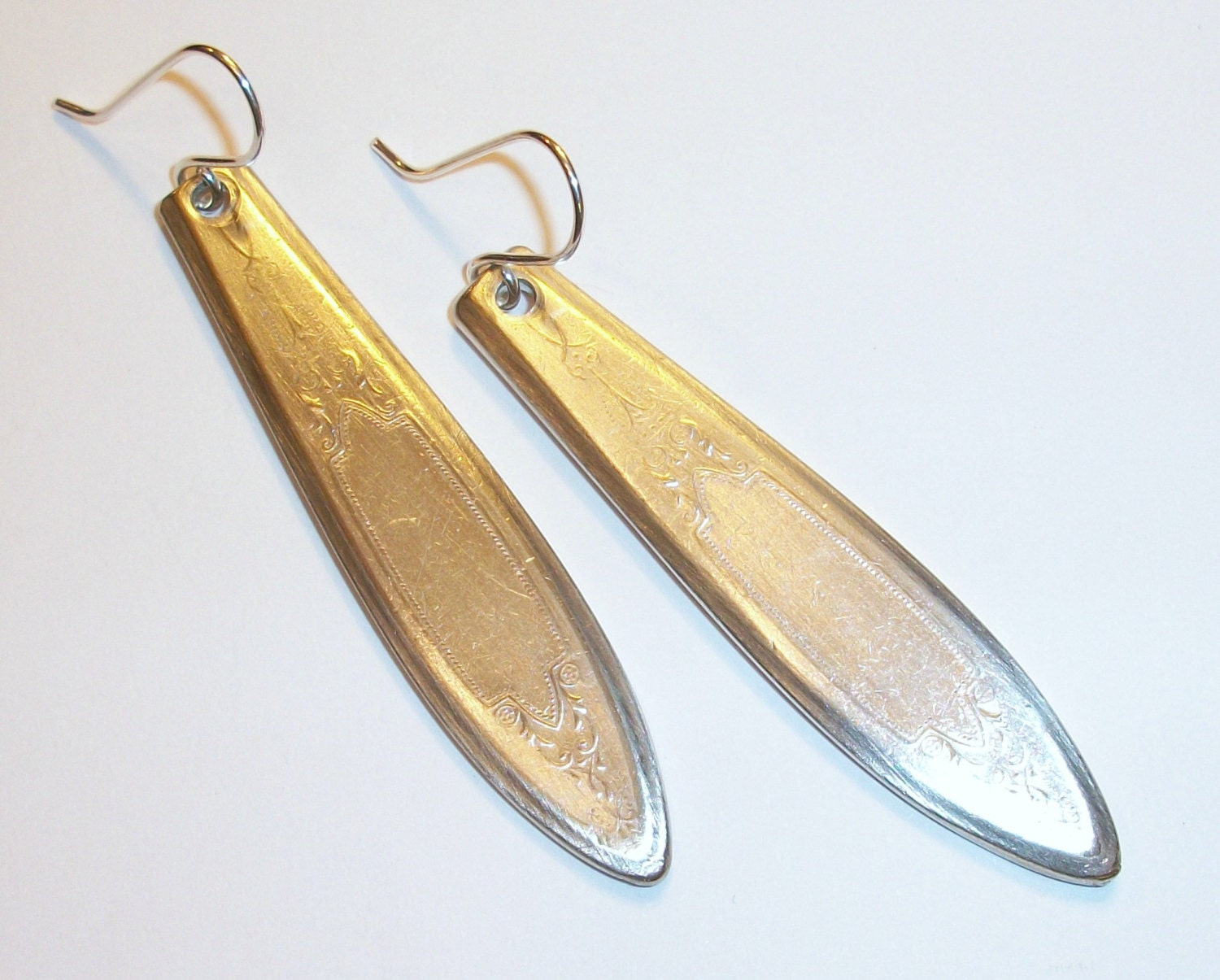 vintage silver spoon earrings free shipping