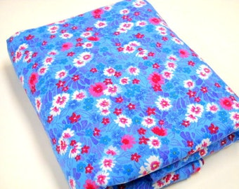 Floral Print Fabric, 1 yard Remnant, Sewing Material, Mystery Fabric