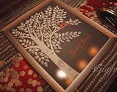 Fall Wedding Guest Book Alternative Guest Book Tree Personalized Wedding Print - 16x20-150 Signature Keepsake Guestbook Poster