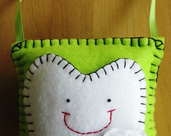 Lime Green Tooth Fairy Pillow