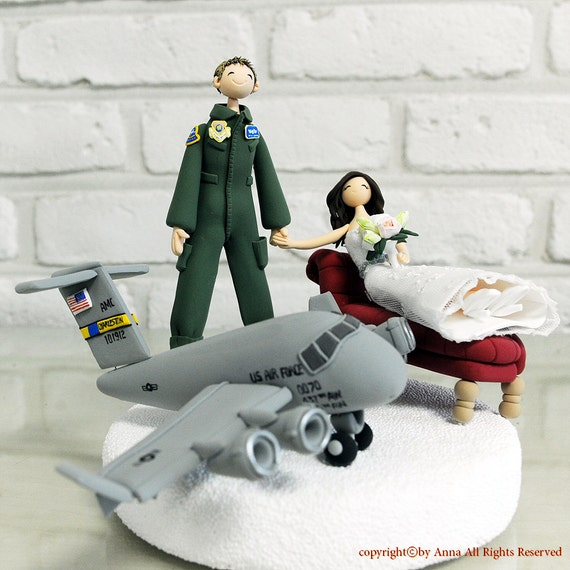 An air force pilot wedding cake topper decoration by for Air force decoration