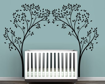 Charming Black Tree Canopy Portal Wall Decal