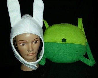 Adventure Time inspired Fionna Costume Hat/Backpack Combo Cosplay Set